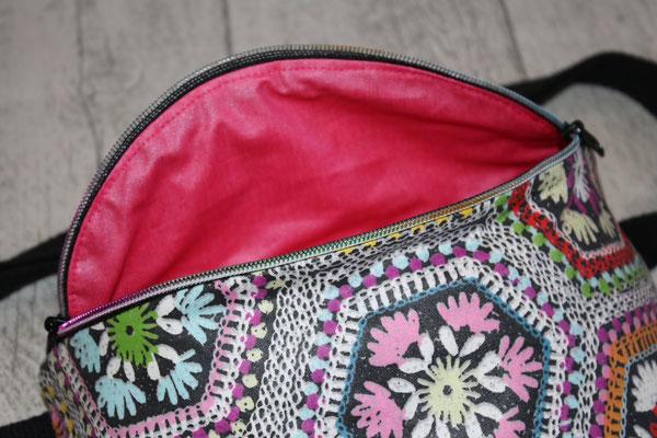 Innen mit besch. Baumwolle Luisa in pinkrosa ausgekleidet