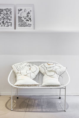 la famille FAIRNIENTE || LA SIESTE Mario et Lena 408€ pour le couple || recto coton peint, verso soie