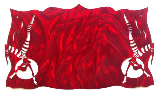 LE CIRQUE GOURMAND - MARY  l'acrobate, embellisseur de repas L48cm H28cm_50€