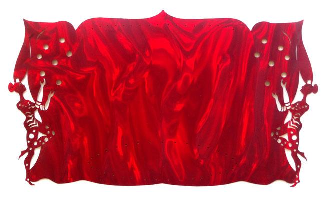 LE CIRQUE GOURMAND - JANE la jongleuse,  embellisseur de repas L48cm H28cm_50€