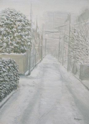 《雪の道》  F4/1月23日/¥20,000(税込)