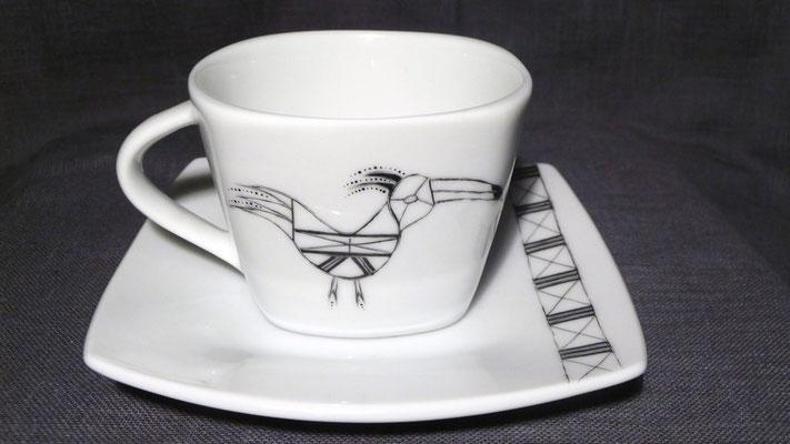 """Tasse à café """"Toucan/Kujapok"""" (atelier)"""