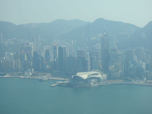 Blick auf die Oper HongKongs