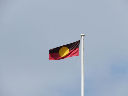 die Flagge der Aboriginals