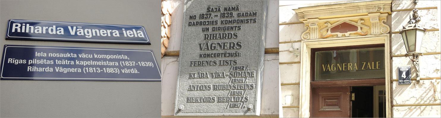 Und noch eine Überraschung, Richard Wagner vielverehrt in Riga.