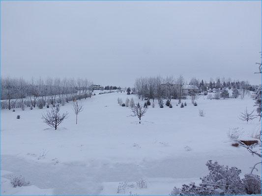 Blick aus dem Fenster unserer Unterkunft