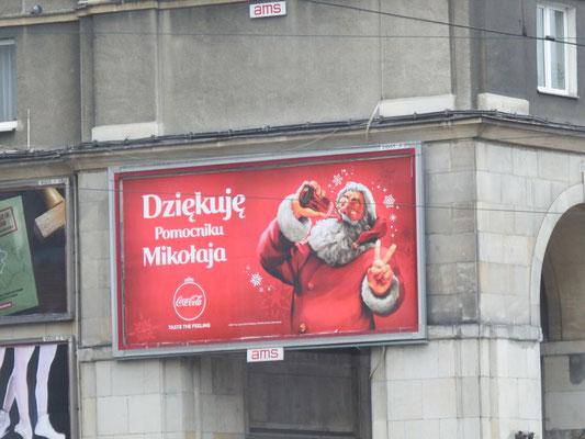 SantaClaus in Warschau