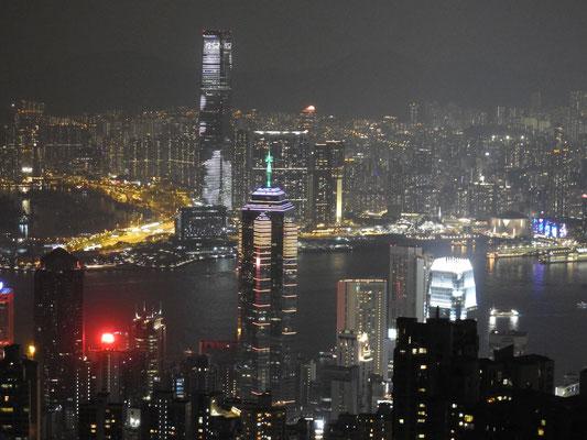 """auf dem Peak """"der"""" Blick auf HongKong"""