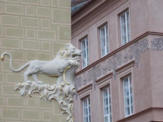 Häuserfassade Warschau