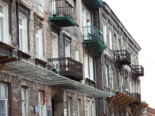 Häuserfassade in Warschau