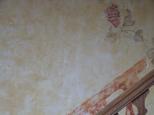 Wandmalerei auf der Hochzeits-Finca