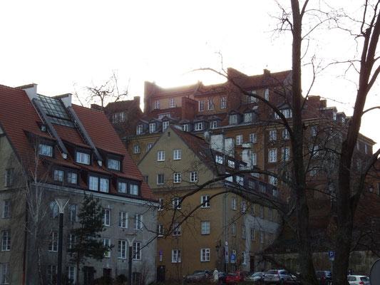 altes Wohnviertel in Warschau