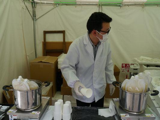 kein Labor, keine Klinik, schlicht und ergreifend Suppenverkauf