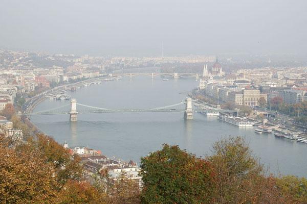 Blick von Buda auf Pest