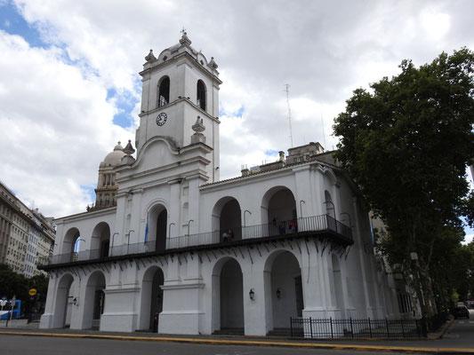 das alte Rathaus in Buenos Aires,Cabildo Museum, an der Plaza de Mayo