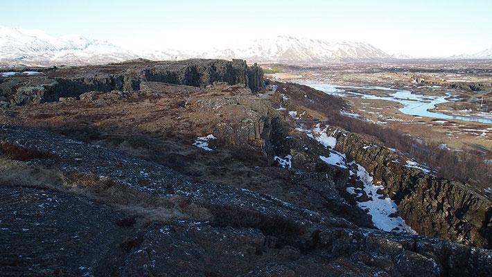 Blick über Þingvellir