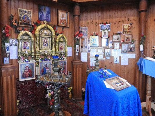 die Kirche in Barentsburg von innen, russisch-orthodox, klar