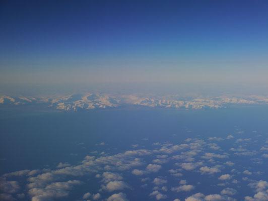 Island von oben aus dem Flugzeug, boah!