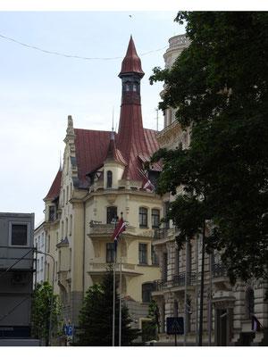 historische Architektur in Riga