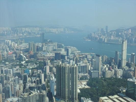 Blick auf die Skyline HongKongs