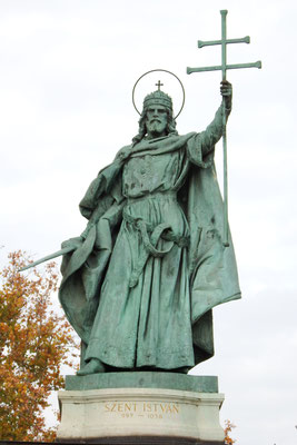 Der Heilige Stephan auf dem Heldenplatz, Budapest