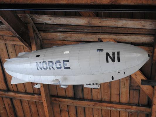Miniatur-Zeppelin Norge I, mit der eine Polarüberquerung gemacht wurde