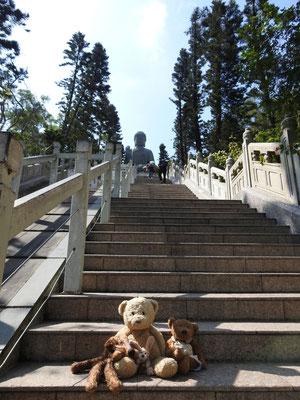 die 268 Stufen zum Tian Tan Buddha