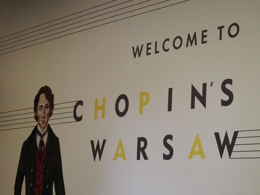 Chopin begrüßt Kasimir, Cäsar, Fredi und Kerl in Warschau