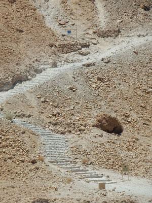 Masada, Schlangenpfad zum Tafelberg