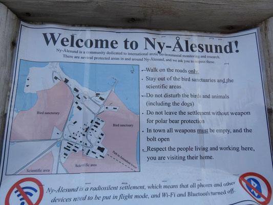 Ny Ålesund  heisst uns willkommen