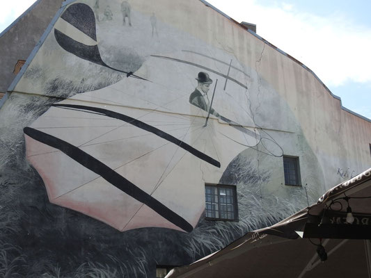 Graffiiti in der Altstadt Rigas