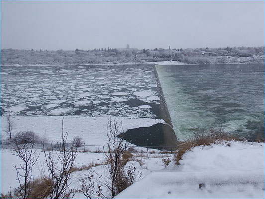 Eis auf dem Saskatchewan River