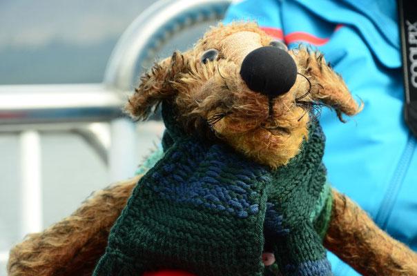 Bin ich, Fredi, nicht schick? Die Bootsfotografin war hin und weg von mir.