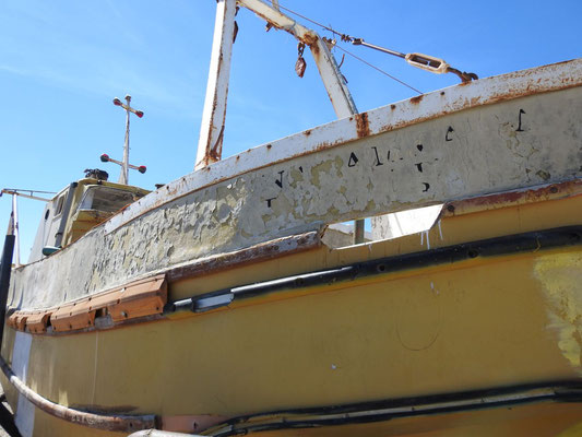 Wir sollen doch nicht etwa mit diesem Boot rausfahren?!