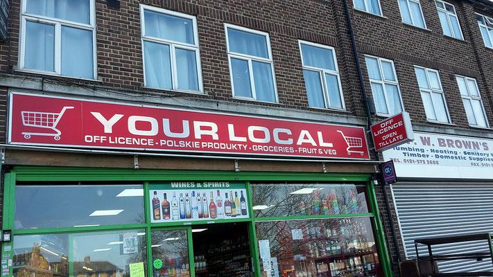 """Na, das ist ja seeehr """"local"""" in Großbritannien - Polskie Products."""