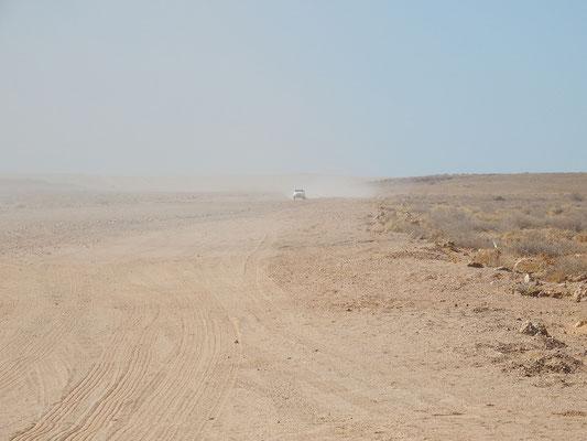 Der Weg durch die Namib ist ganz schön staubig *hüstel*kröchz*.