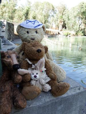 Wir am Ufer des Jordans - Taufe!