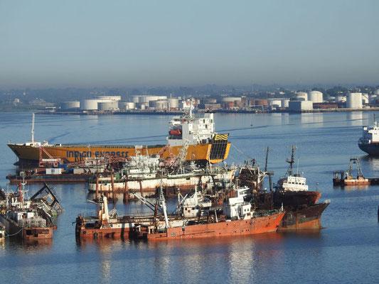 der Schiffsfriedhof von Montevideo