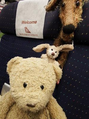 Die South African Airline heißt uns willkommen.