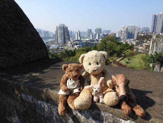Wir auf'm Berg in Macao