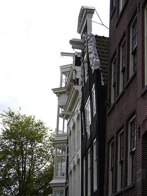 Wir (Kasimir, Cäsar und Fredi) sichten in Amsterdam typisch Niederländisches: op vlucht.