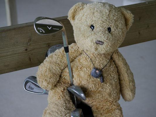 ich, Kasimir, mit meiner Golfausrüstung