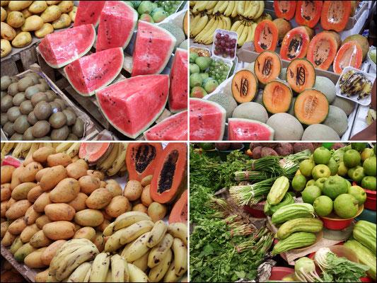 Obst- und Gemüsegenüsse in Mexiko