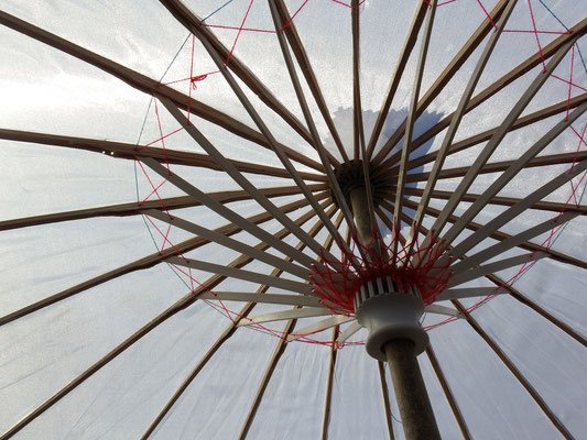 Sonnenschirme für die Hochzeits-Gäste