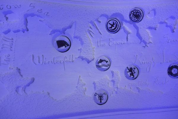 Schnee-Landkarte von Game of Thrones