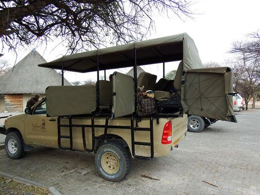 wir sichern uns unseren Platz im Jeep