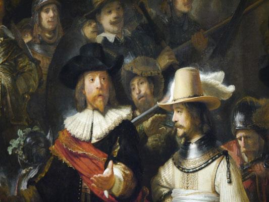 Wir (Kasimir, Cäsar und Fredi) im Rijkmuseum, Amsterdam - Mijnheer van Rijns Nachtwache