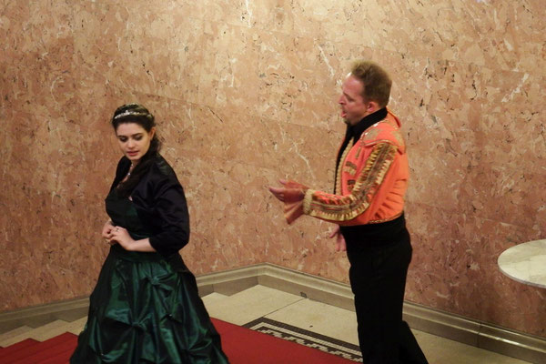 großartig, einfach nur großartig - ein Minikonzert für uns in der Ungarischen Staatsoper