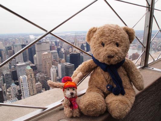 wir auf dem Empire State Building, New York