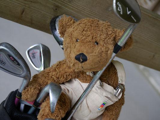 ich, Kerl, mit meiner Golfausrüstung